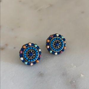 Blue studs